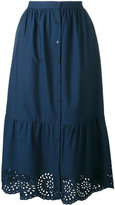 Mes Demoiselles San Gallo lace detail skirt - women - Cotton - 36