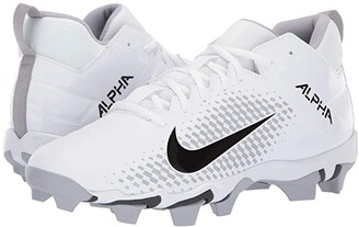 Nike Alpha Menace 2 Shark (White/Black/Wolf Grey/Anthracite) Men's Cleated Shoes