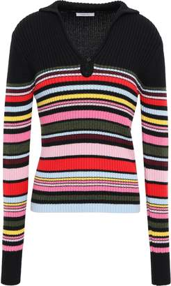 Tome Ribbed Striped Wool And Cotton-blend Sweater