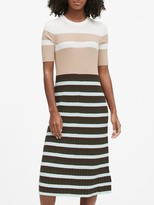 Banana Republic Petite Color-Blocked Midi Dress