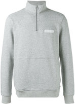 Stussy high neck sweatshirt - men - Cotton/Polyester - M