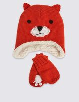 Marks and Spencer Kids' Fox Hat & Mittens