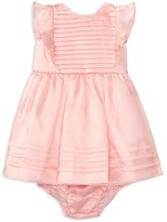 Ralph Lauren Girls' Silk Organza Pleated Dress & Bloomer Set - Baby