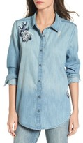 BP Women's Embroidered Chambray Top