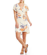 Billabong Hold Me Tight Floral Wrap Dress