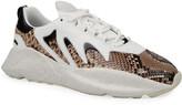 Roberto Cavalli Men's Viper Chunky Python-Skin Sneakers