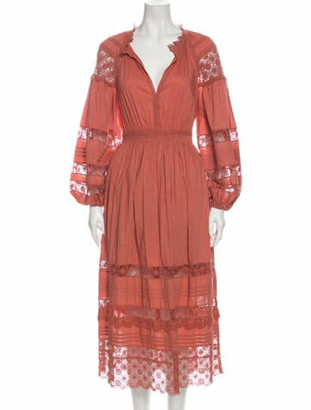 Ulla Johnson V-Neck Long Dress Pink