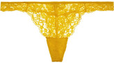 Elle Macpherson Body - Zest Stretch-lace Thong - Yellow