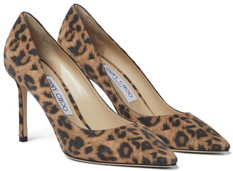 Jimmy Choo Romy 85 leopard-print suede pumps