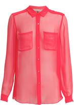 Rebecca Taylor Sheer Silk Shirt
