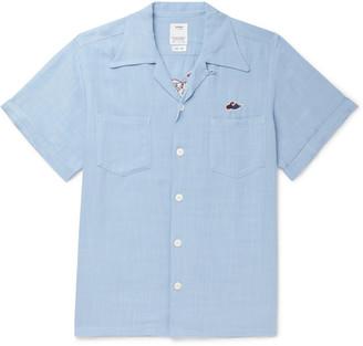 Visvim Camp-Collar Embroidered Voile Shirt