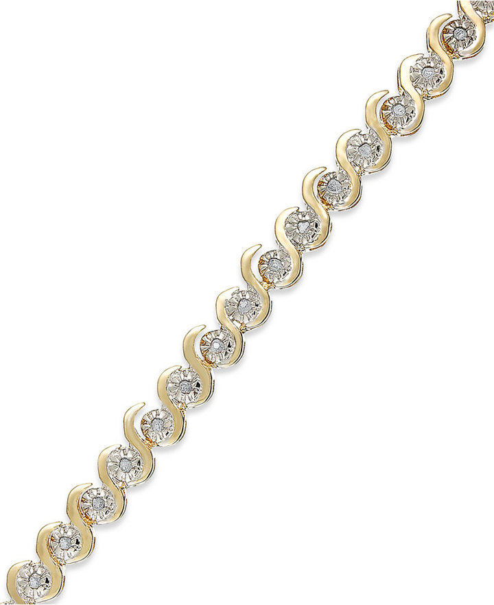 Townsend Victoria Rose-Cut Diamond Bracelet in 18k Gold over Sterling Silver (1/4 ct. t.w.)
