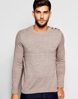Asos Cotton Jumper With Button Shoulder