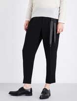 Brunello Cucinelli Tailored high-rise cropped woven trousers