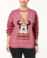 Hybrid Trendy Plus Size Minnie Mouse Graphic Choker Sweatshirt