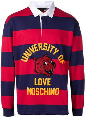 Love Moschino Varsity striped T-shirt