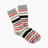J.Crew Trouser socks in striped colorblock