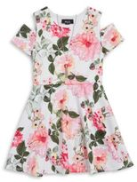 Ally B Girls Floral Dress and Necklace Set