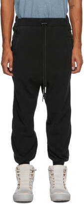 Boris Bidjan Saberi Black Coated Lounge Pants