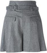 Diane von Furstenberg high waisted shorts - women - Spandex/Elastane/Cashmere/Wool - 8