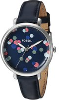 Fossil Women's ES4103 Jacqueline Three-Hand Date Leather Watch