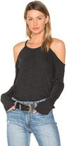Lanston Exposed Shoulder Tee in Black. - size XS (also in )