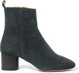Etoile Isabel Marant Isabel Marant - étoile Deyissa Suede Ankle Boots - Petrol
