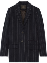 Maje Vampas Pinstriped Wool-Blend Gabardine Blazer
