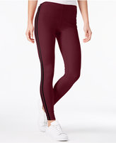 Ultra Flirt Juniors' Printed Sporty Side-Stripe Leggings