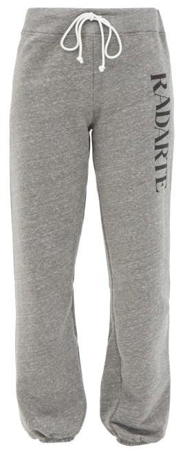 Rodarte Radarte-print Fleeceback-jersey Track Pants - Grey