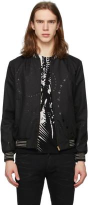 Saint Laurent Black Galaxy Teddy Bomber Jacket