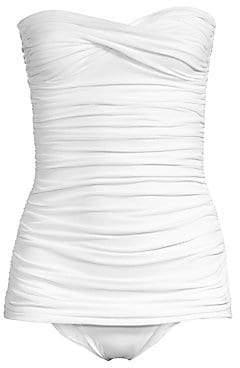 af5af21e7d White Strapless Swimsuit - ShopStyle