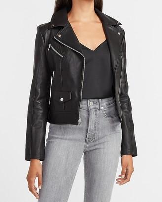 Express Genuine Leather Moto Jacket