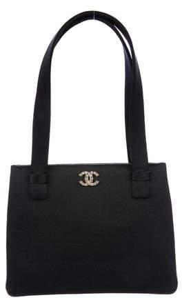 Chanel Satin CC Evening Bag