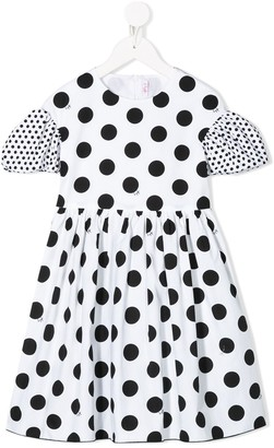 Il Gufo Polka Dot-Print Midi Dress