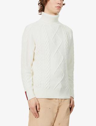Tommy Hilfiger Turtleneck cable-knit wool-blend jumper