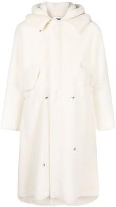 Mr & Mrs Italy Shearling Midi Coat