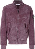 Stone Island stand up collar cardigan