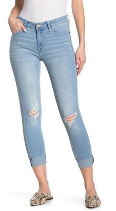 Vigoss Marley Distressed Mid Rise Skinny Jeans