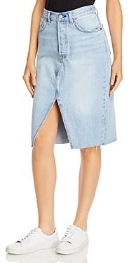 Levi's Frayed Hem Denim Skirt