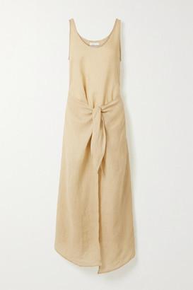 Anémone Ramie Wrap Dress - Neutral
