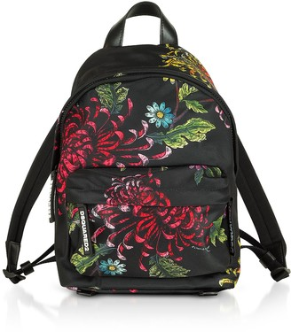 DSQUARED2 Womens Multicolor Flowers Printed Satin Mini Backpack