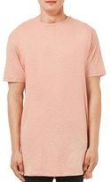 Topman Men's Longline Step Hem Crewneck T-Shirt