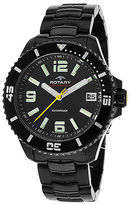 Rotary AGB00085-W-04 Men's Aquaspeed Ion Plated Black Stainless Steel Black