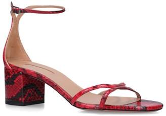 Aquazzura Snake Print Leather Purist Sandals 50