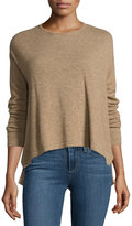 Neiman Marcus Cashmere Pullover Sweater, Tan