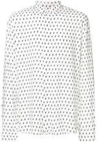 Saint Laurent Men's White Viscose Shirt.