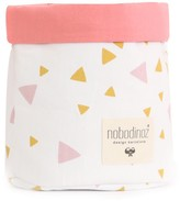 Nobodinoz Mambo basket with pink and yellow triangles