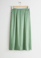 Thumbnail for your product : And other stories Satin Cupro Midi Skirt