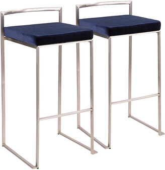 Lumisource Set Of 2 Fuji Barstools